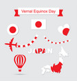 japan flag and map icons set vector image