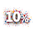 10 sale sign vector image vector image