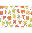abc seamless pattern colorful letter background vector image