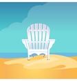 adirondack chair on the sea beach standing