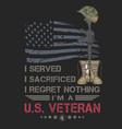 American veteran boots and gun