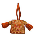 antique women purse or bag with ornaments vector image vector image