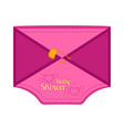 baby shower label with message shape vector image vector image