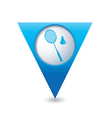 badminton BLUE triangular map pointer vector image