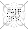 banner sale 20 percent discount on web vector image vector image