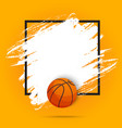 basketball sport ball flyer or poster background vector image vector image