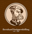 bernhard knipperdolling was a reverend vector image vector image