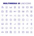 big multimedia icon set trendy linear icons vector image