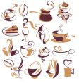 Big set of coffeetea elements vector image