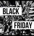 black friday sale design poster vector image vector image