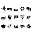 black money icons set vector image vector image