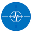Button with flag of NATO vector image vector image