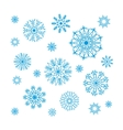 christmas snowflakes collection circle ornament vector image vector image