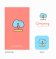 cloud downloading company logo app icon and vector image vector image