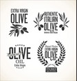 collections of olive oil labels 2 vector image vector image