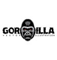 color with gorilla head and vector image vector image