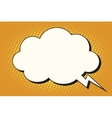 Comic bubble cloud form vector image vector image