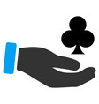 croupier hand flat icon vector image vector image