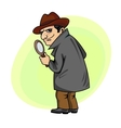 Detective man vector image