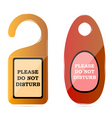 do not disturb tags vector image vector image