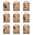 dog food packages set vector image vector image