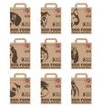 dog food packages set vector image