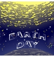 Earth Day Text on Starry Space Background vector image vector image