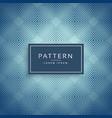 elegant blue pattern design background vector image vector image