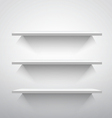 Empty shelves vector image vector image