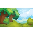 Forest Glade Game Background vector image vector image