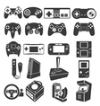 gaming icon set vector image
