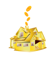 gold house vector image vector image