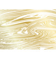 gold marble texture on white background vector image