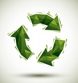 Green recycle geometric icon made in 3d modern vector image