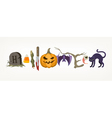 Halloween holiday greeting vector image