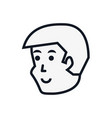 head of young man avatar character vector image vector image