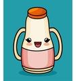 kawaii bottle juice baby icon vector image vector image