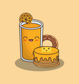 kawaii food design vector image vector image