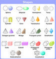 Learning the 3D shapes for kids vector image vector image