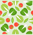 lettuce tomato and soya bean seamless pattern vector image vector image