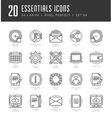 Line icons set Trendy Modern Flat thin linear vector image vector image