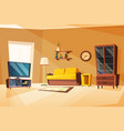 living room interior with vector image vector image
