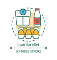 low fat diet concept icon vegetarian nutrition vector image vector image