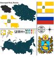 Map of Krai of Stavropol vector image vector image