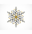 merry christmas snowflake greeting card banner vector image