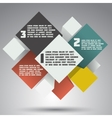 Modern colorful design business options banner vector image vector image