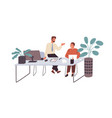 office workers or clerks chatting during break vector image vector image