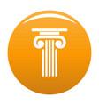 outer column icon orange vector image vector image