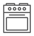 oven line icon home and appliance stove sign vector image vector image