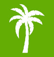 palm icon green vector image